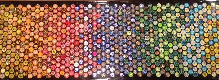 Bottle Cap Bar Top