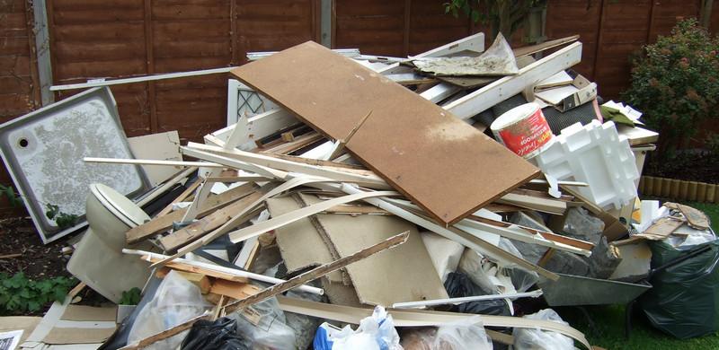 Residuos de constructores: los residuos de una renovación a menudo generan tesoros