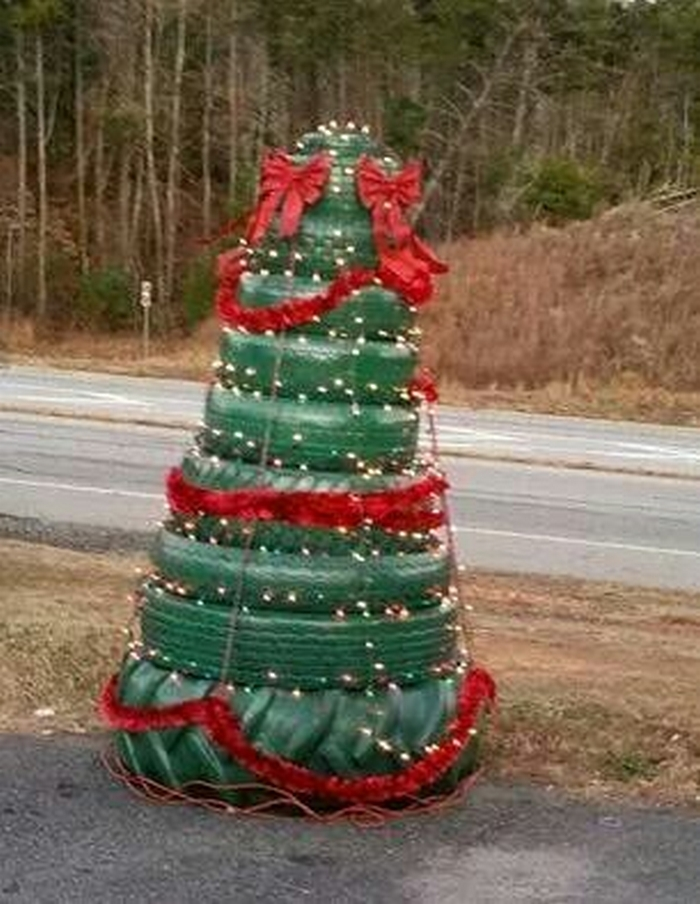 Tire Christmas Tree | Your Projects@OBN