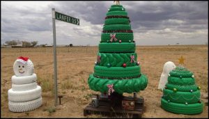 Tire Christmas Tree