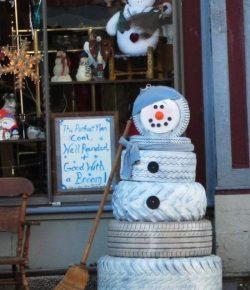 Tire Snowman