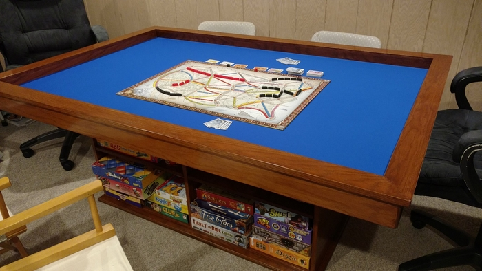 Build your own gaming table with plenty of storage!