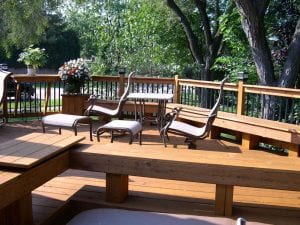 Deck seating.
