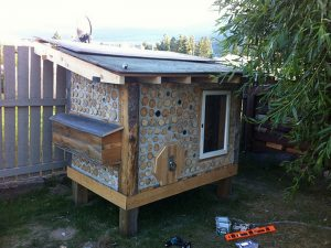 Build a durable chicken coop with cordwood!