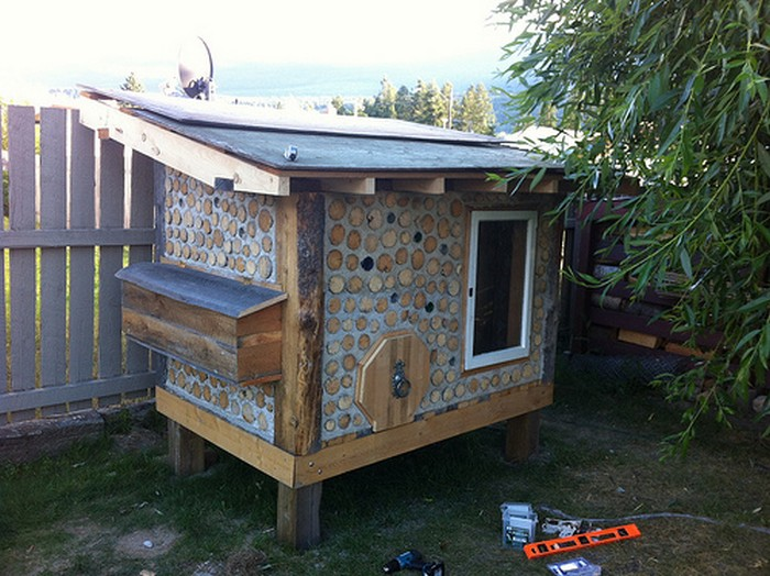 DIY Cordwood Chicken Coop