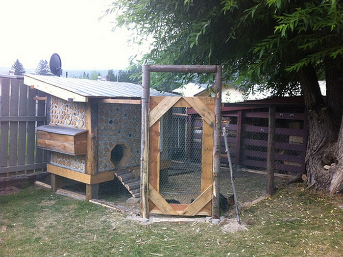 DIY Cordwood Chicken Coop