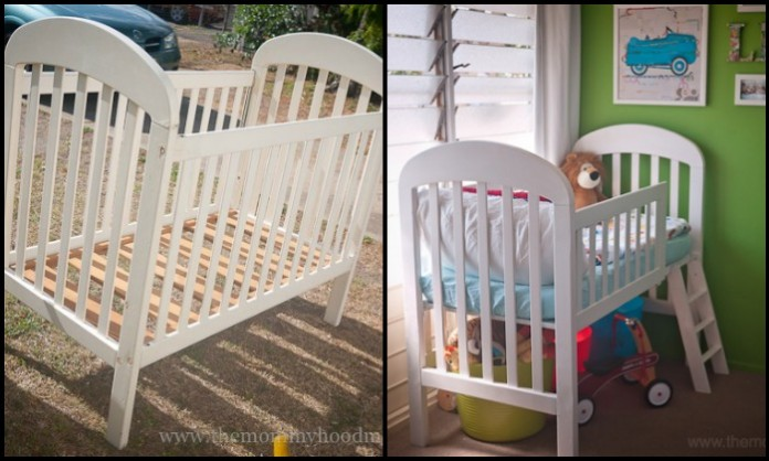 From baby crib to toddler bed!