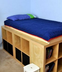 DIY Bookshelf Bed