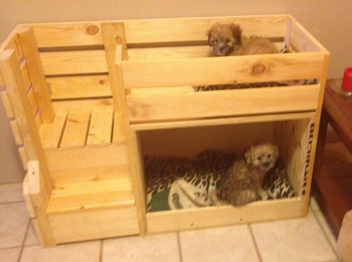 Give your pets their own 39 personal space 39 by building a for Pet bunk bed gallery
