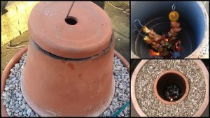 Make your own tandoor oven out of flower pots!