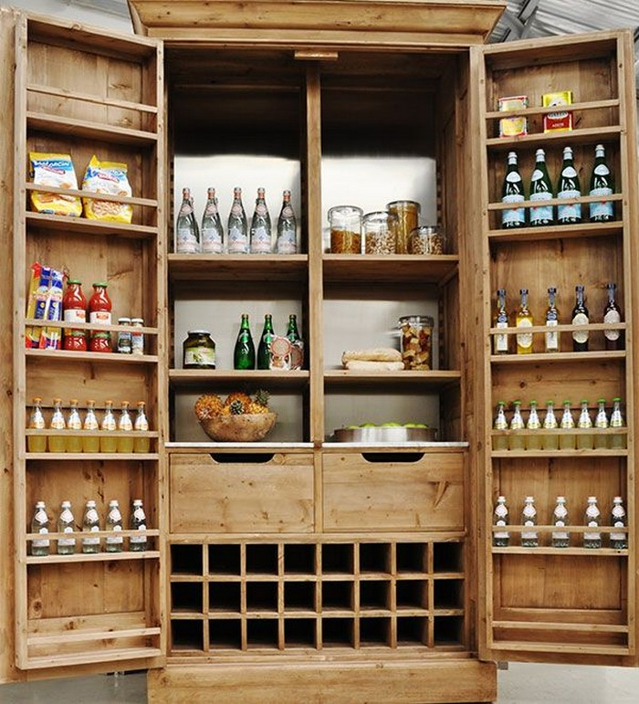 A freestanding pantry for small spaces your projects obn for Free standing kitchen ideas
