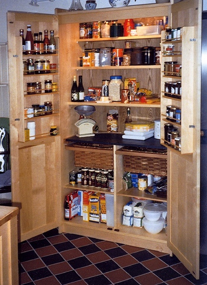 A freestanding pantry for small spaces your projects obn - Kitchen pantry cabinets freestanding ...