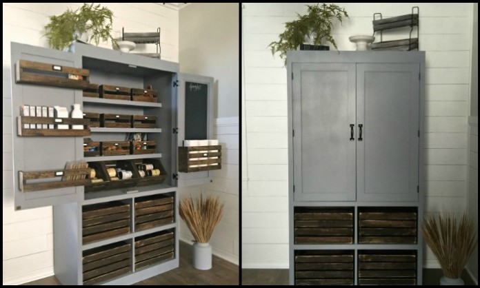 A freestanding pantry for small spaces!