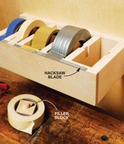 DIY multiple roll tape dispenser