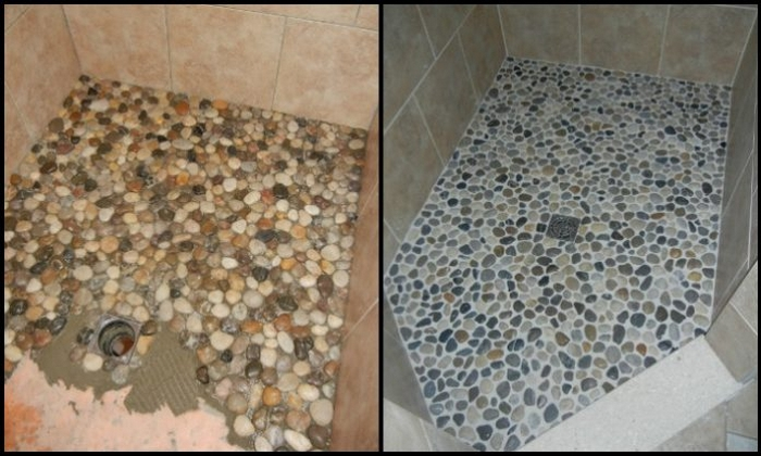 Create your own pebble shower floor!