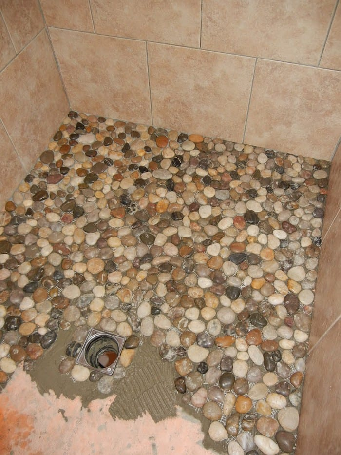 Create your own pebble shower floor! - Your Projects@OBN