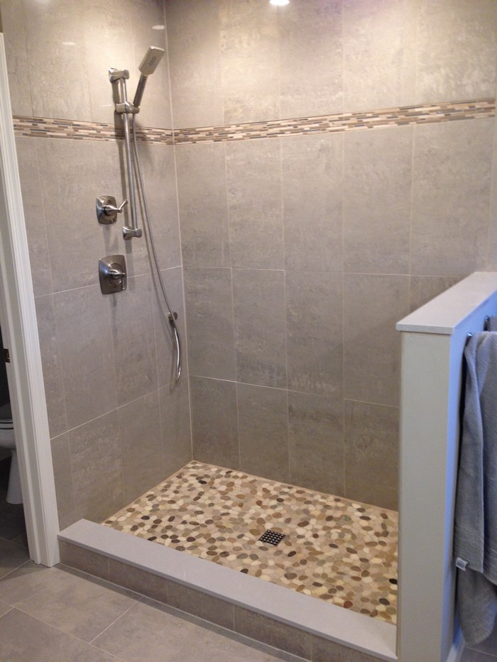 Create your own pebble shower floor your projects obn for Design your own bathroom tiles