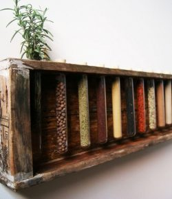 DIY Test Tube Spice Rack