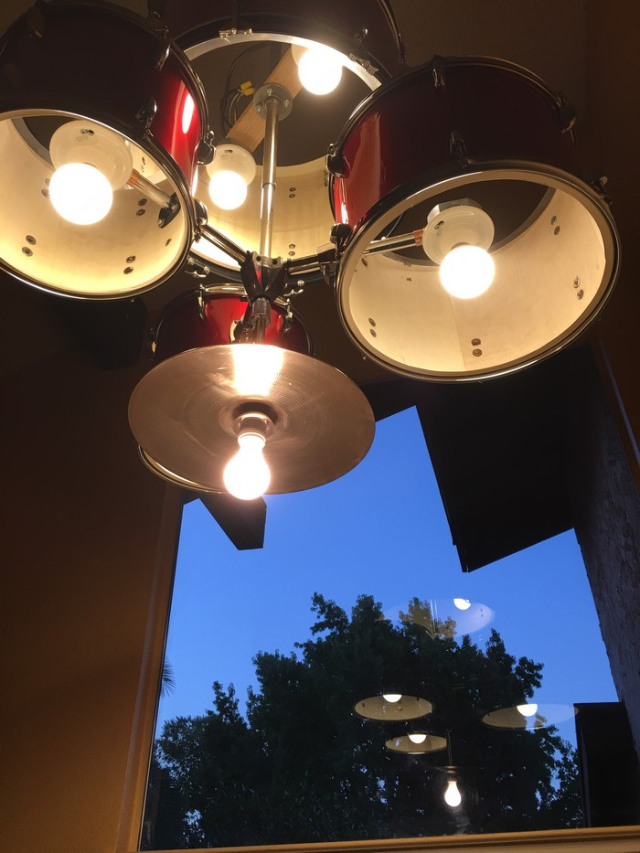 Turn An Old Drum Set Into A Unique Chandelier For Your