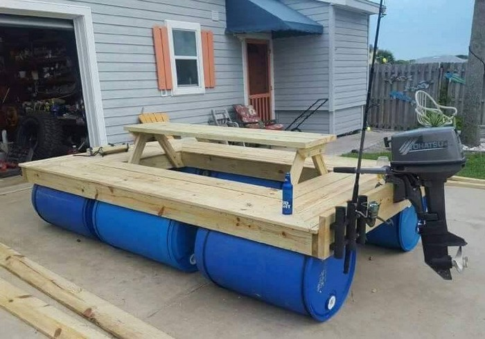 Build An Awesome Floating Picnic Table Your ProjectsOBN - Picnic table boat for sale