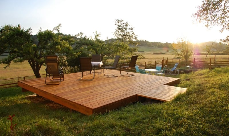 A simple example of how a free-standing deck can enhance your lifestyle
