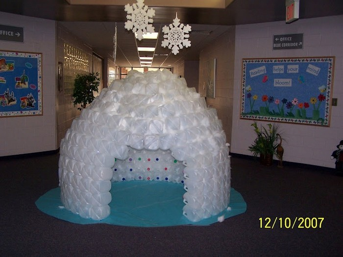 Build a milk jug igloo for the kids your projects obn for How to build an igloo out of milk jugs
