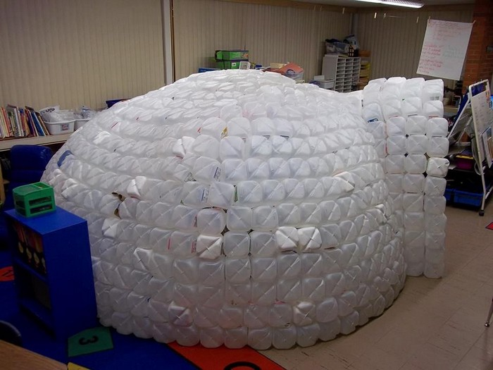 how to make igloo with waste material
