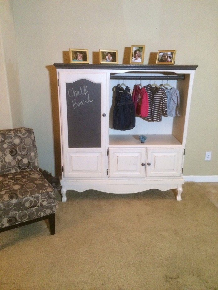 Old Entertainment Center Turned Kids Armoire Your