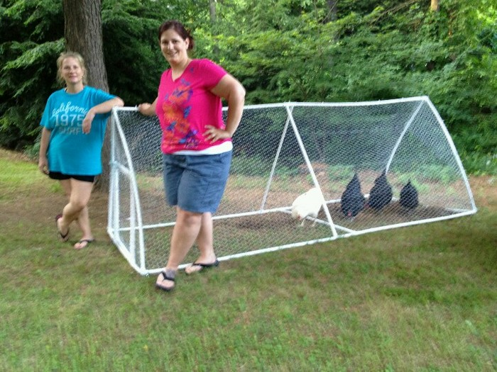 Build a pvc chicken tractor your projects obn for Cheap chicken tractor