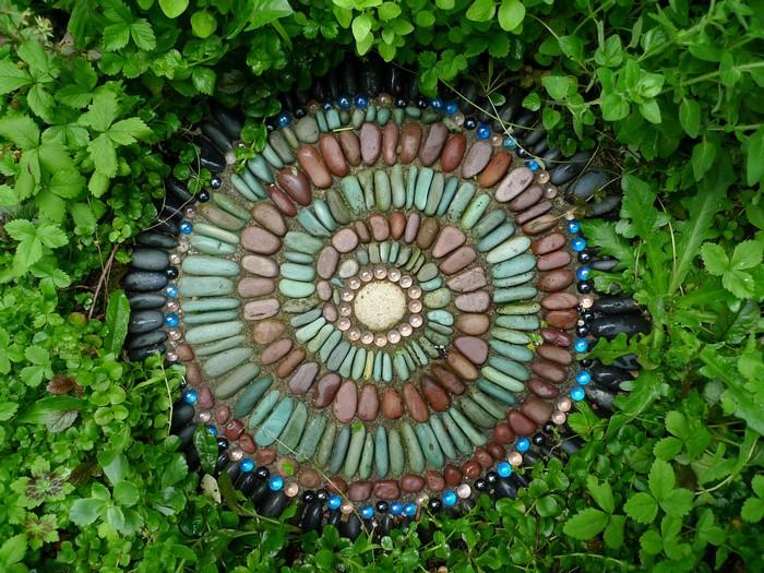 Pebble Mosaic Stepping Stones