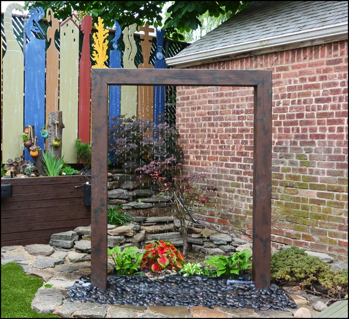 Build A Beautiful Rain Shower Fountain For Your Backyard