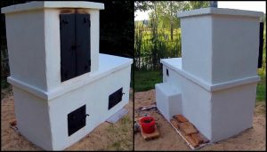 Build an all-in-one backyard smokehouse, pizza oven and grill!