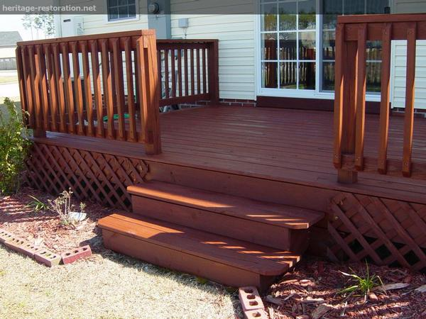 An example of staining. The finish is permanent.