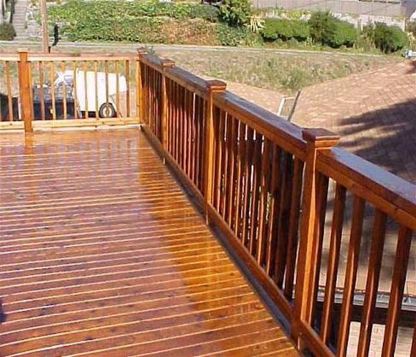 This deck has been stained with a light pigment