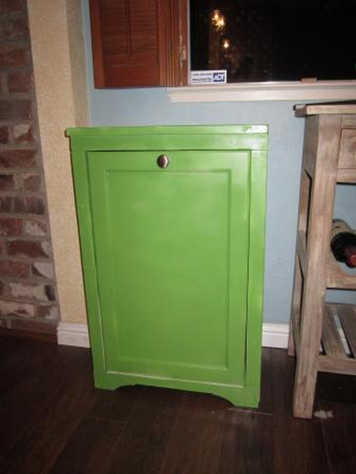 hide your trash bin by building a tilt out trash cabinet your projects obn. Black Bedroom Furniture Sets. Home Design Ideas