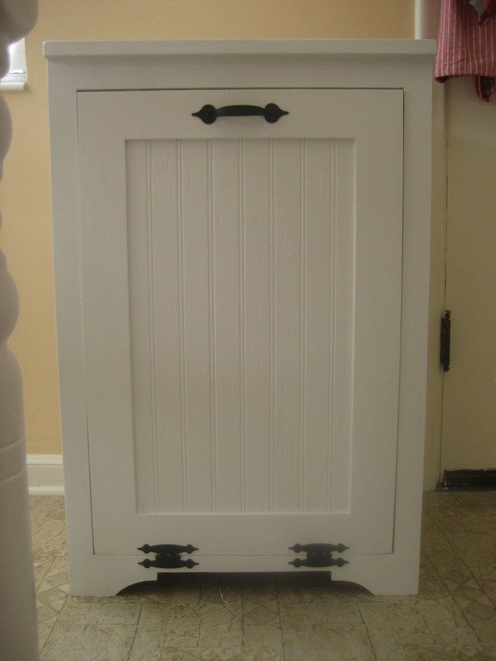 Hide Your Trash Bin By Building A Tilt Out Trash Cabinet