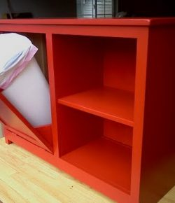 DIY Tilt Out Trash Cabinet