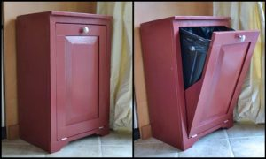 Hide your trash bin by building a tilt-out trash cabinet!