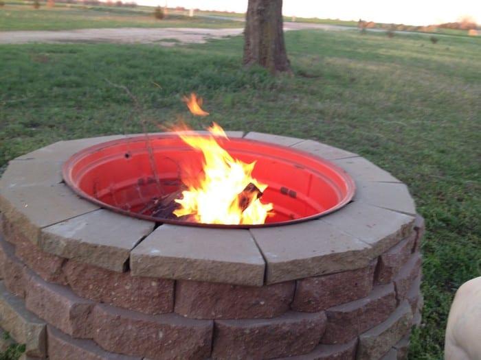 Tractor Rim Fire Pit