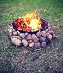 Tractor Rim Fire Pit