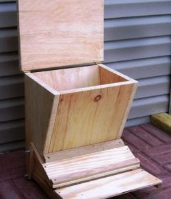 Treadle Chicken Feeder
