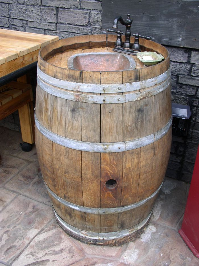 Build your own unique outdoor sink with an old wooden ... on Outdoor Patio Sink id=79671