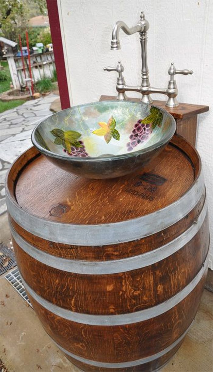 Build your own unique outdoor sink with an old wooden ... on Outdoor Patio Sink id=29596
