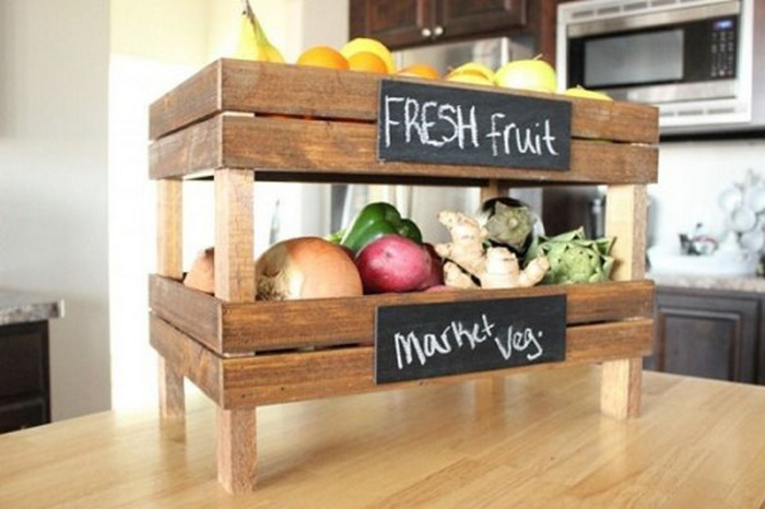 Build Your Own Mobile Kitchen Island With Wooden Crate