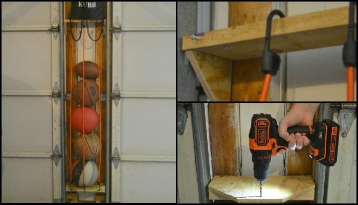 Bungee Cord Ball Storage