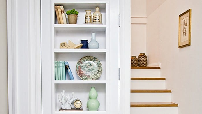 How to build a bookshelf in a door