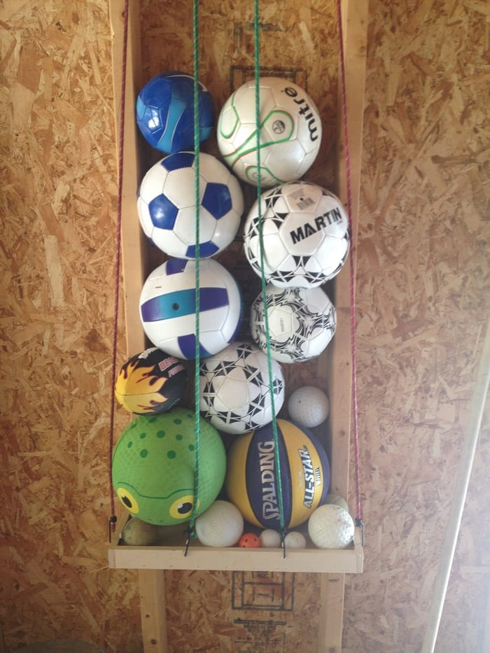 Organize All Those Sports Balls At Home By Building This Easy Ball Corral Your Projects Obn
