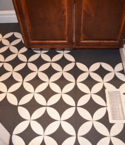 Chalk Painted Bathroom Floor