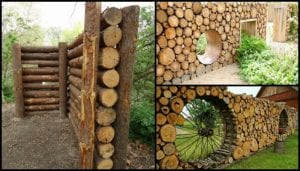 Add privacy to your yard by building a beautiful cordwood fence!