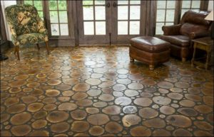 Install your own cordwood floor!